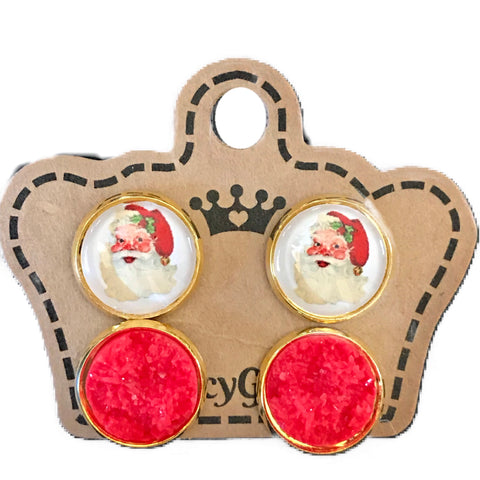 Vintage Santa/ Red Drusy Multi Pack - Juicy Gemz