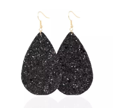 Glitter Leathers - Black - Juicy Gemz