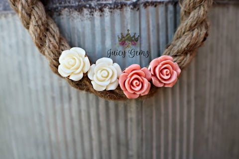 Rose Gold Flowers - Juicy Gemz