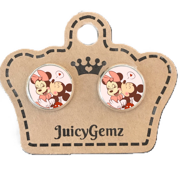 Mickey Minnie Love Studs Girls - Juicy Gemz