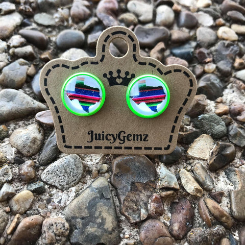 Serape Texas studs - Juicy Gemz