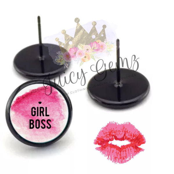 12mm Girl Boss Earrings - Juicy Gemz