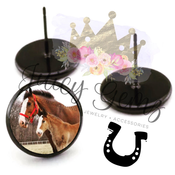 Horse Earrings - Juicy Gemz