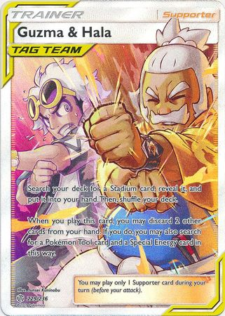 Guzma & Hala - 229/236 - Full Art Ultra Rare