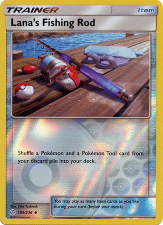 Lana's Fishing Rod - 195/236 - Uncommon Reverse Holo