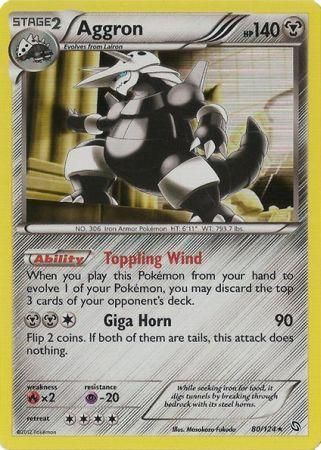 Aggron Holo Rare - 80/124 - Dragons Exalted