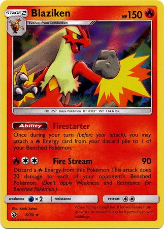 Blaziken Holo Rare - 6/70 - Dragon Majesty