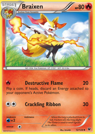 Braixen - 12/124 - Fates Collide