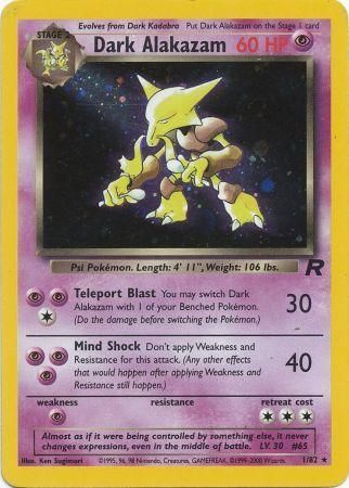 Dark Alakazam Holo Rare - 1/82 - Team Rocket