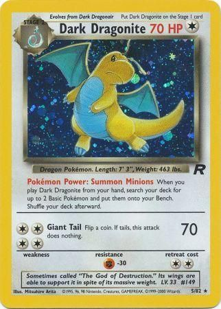 Dark Dragonite Holo Rare - 5/82 - Team Rocket