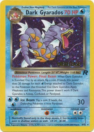 Dark Gyarados Holo Rare - 8/82 - Team Rocket