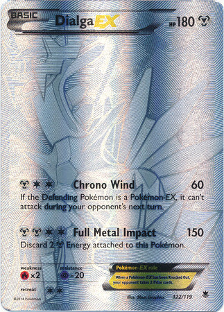 Dialga EX Full Art Secret Rare - 122/119 - Phantom Forces