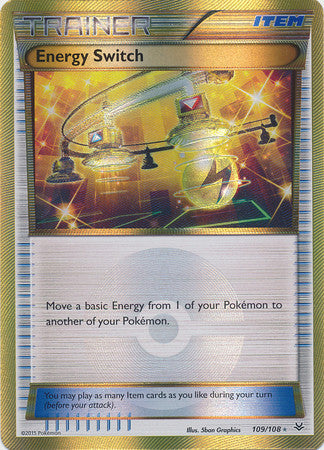 Energy Switch Secret Rare - 109/108 - Roaring Skies