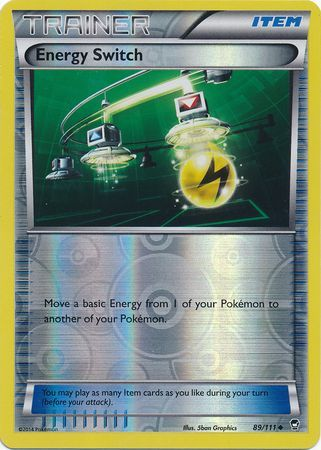 Energy Switch Reverse Holo - 89/111 - Furious Fists