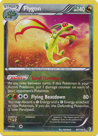 Flygon Reverse Holo Rare - 99/149 - Boundaries Crossed