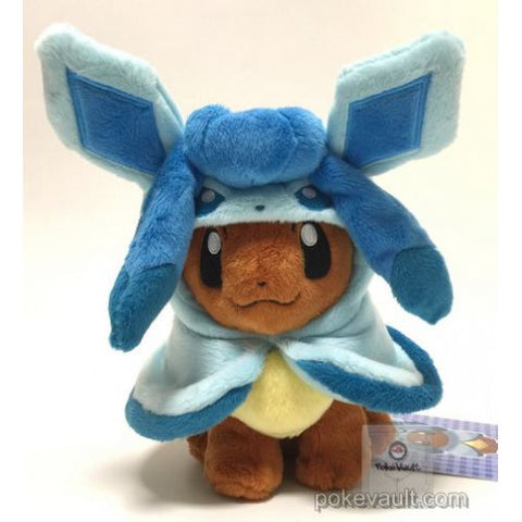 Pokemon Center 2017 Eevee Poncho Campaign Glaceon Plush Toy