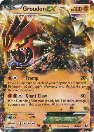 Groudon EX - 54/108 - Dark Explorers