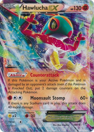 Hawlucha EX - 64/111 - Furious Fists