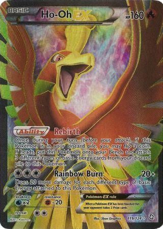 Ho-Oh EX Full Art - 119/124 - Dragons Exalted