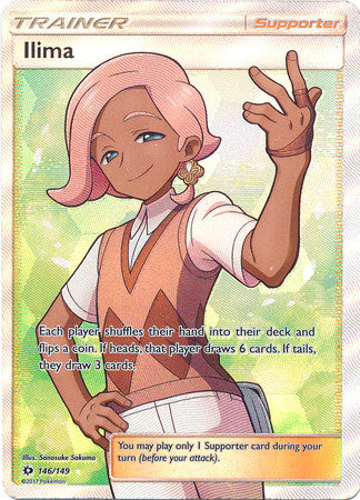 Ilima Full Art - 146/149 - Sun and Moon Base Set