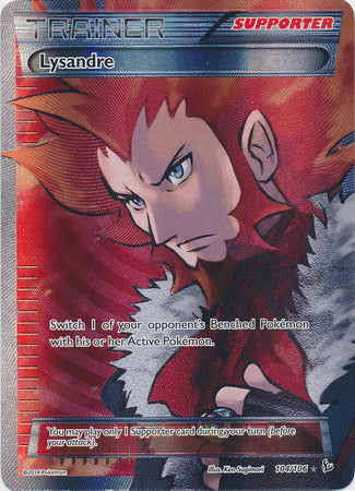 Lysandre Full Art - 104/106 - Flashfire (Lightly Played)