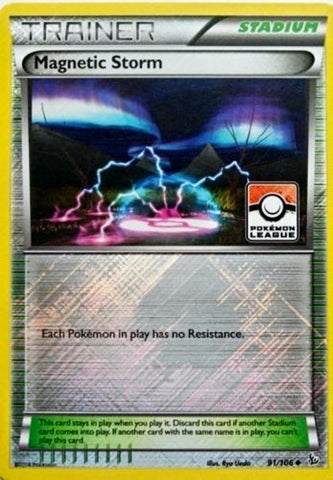 Magnetic Storm Reverse Holo League Promo - 91/106 - FlashFire
