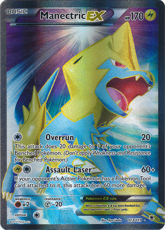 Manectric EX Full Art - 113/119 - Phantom Forces