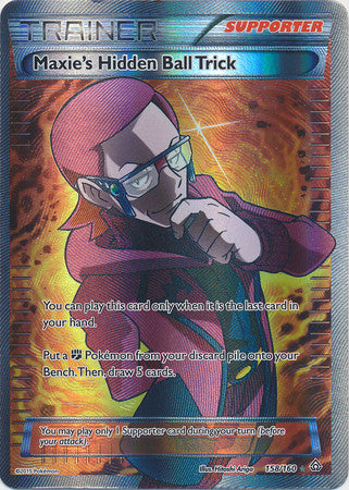 Maxie's Hidden Ball Trick Full Art - 158/160 - Primal Clash