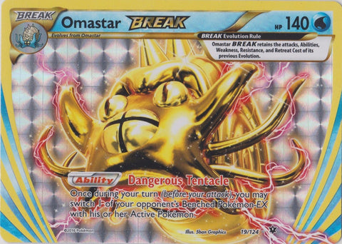 Omastar Break - 19/124 - Fates Collide