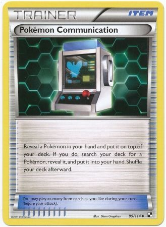 Pokemon Communication - 99/114 - Black and White Base Set