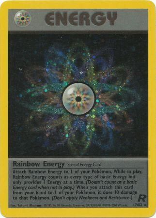 Rainbow Energy Holo Rare - 17/82 - Team Rocket
