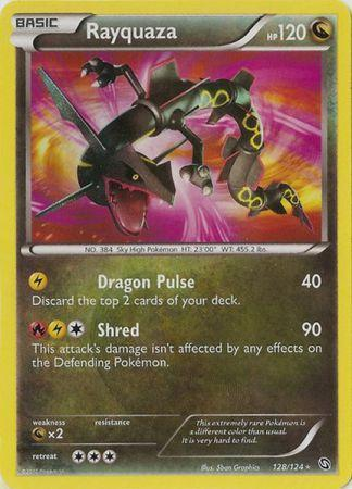 Rayquaza Secret Rare - 128/124 - Dragons Exalted