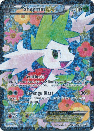 Shaymin EX Full Art - RC21/RC25 - Legendary Treasures
