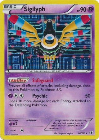Sigilyph Holo Rare - 66/113 - Legendary Treasures