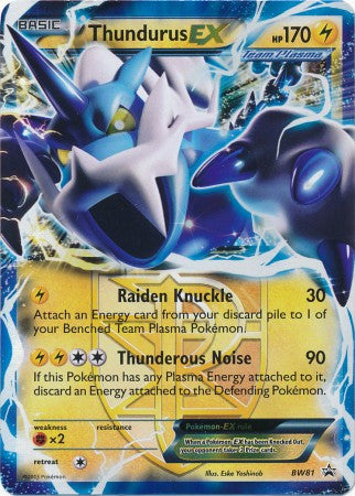 Thundurus EX - BW81 - Black and White Promos