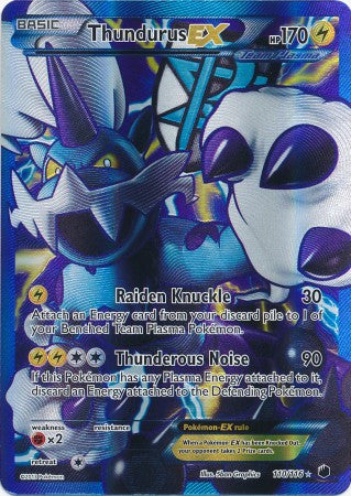 Thundurus EX Full Art - 110/116 - Plasma Freeze