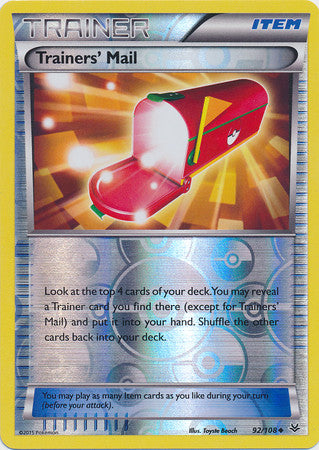 Trainers' Mail Reverse Holo - 92/108 - Roaring Skies