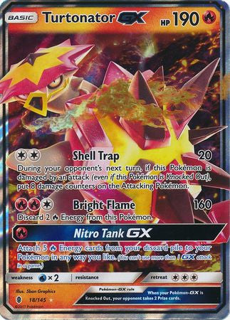 Turtonator GX - 18/145 - Guardians Rising