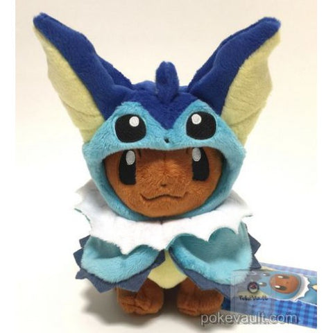 Pokemon Center 2017 Eevee Poncho Campaign Vaporeon Plush Toy