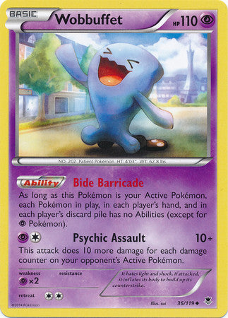 Wobbuffet Rare - 36/119 - Phantom Forces
