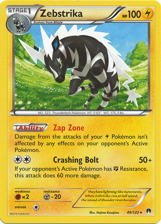 Zebstrika Rare - 49/122 - BREAKPoint