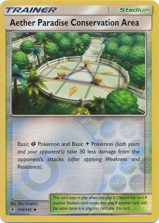 Aether Paradise Conservation Area Reverse Holo - 116/145 - Guardians Rising