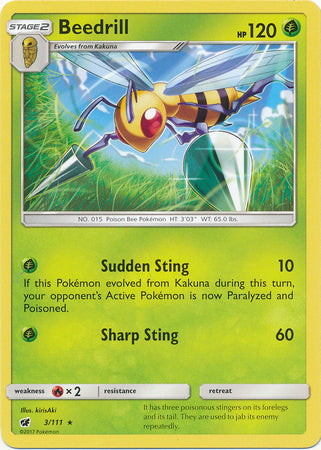 Beedrill Rare - 3/111 - Crimson Invasion