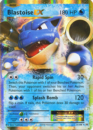 Blastoise EX - 21/108 - Evolutions