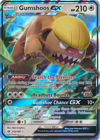Gumshoos GX - 110/149 - Sun and Moon Base Set