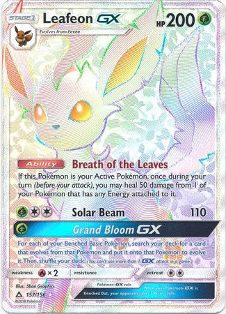 Jungle Gym For Sale >> Leafeon GX Rainbow Rare - 157/156 - Ultra Prism – Dead Draw Gaming