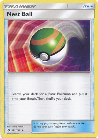 Nest Ball - 123/149 - Sun and Moon Base Set