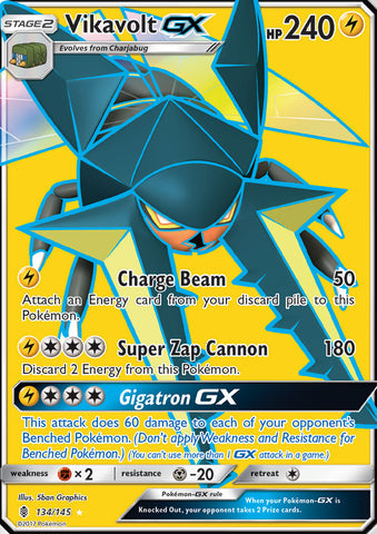 Vikavolt GX Full Art -134/145 - Guardians Rising