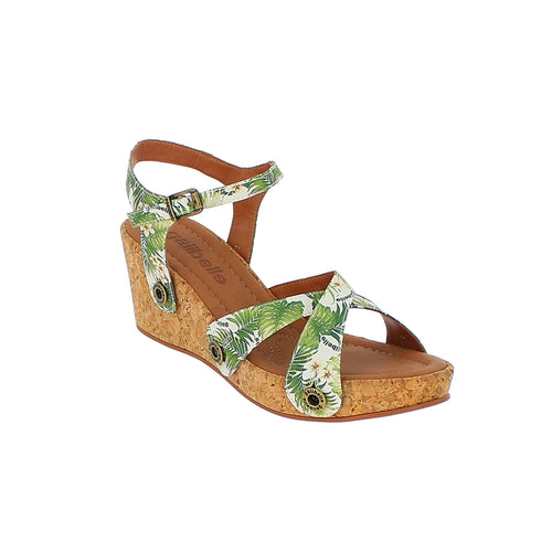 galibelle danni da10 green leaves satin strap