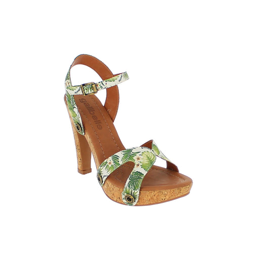deise de01 green leaves satin strap - galibelle